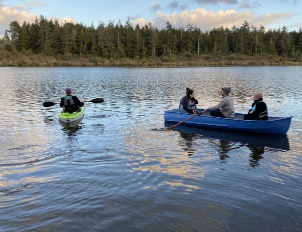Exploring Lake Loomis on a Flotilla