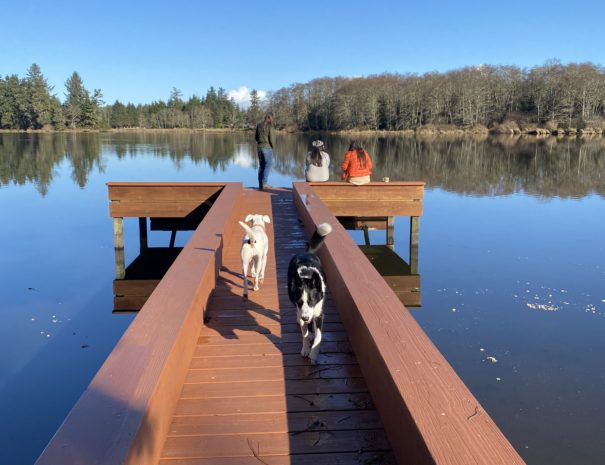 Hollis and Daisy on the Dock